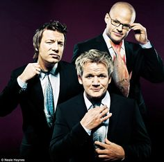 Gordon Ramsay, Jamie Oliver and Heston Blumenthal