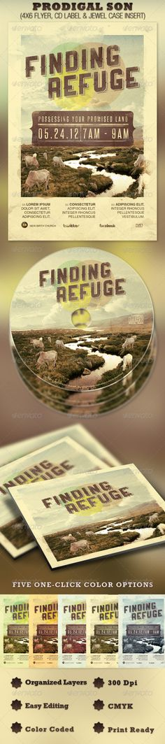 Finding Refuge Flyer and CD Template - Price: $7.00