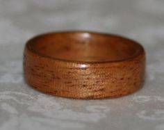 Custom Wooden Ring with Crushed Stone Inlay von MnMWoodworks