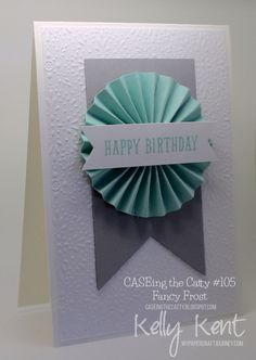 CASEing the Catty #105 - Fancy Frost. Kelly Kent - mypapercraftjourney.com
