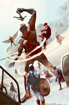 Avengers by Mik del Mundo