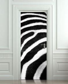 Zebra Animal Print 3D Door Wall Mural Poster Decal Illusion Sticker  Wallpaper Part 71