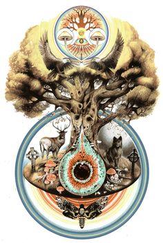 Tree of life #ravenectar #visionaryart #art #beautiful #visual #trippy #psychedelic #sacred