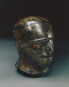 Closed sallet with grotesque face, or Schembart visor, Nuremberg, c.1500 (painted steel)