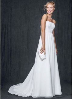 Chiffon Soft Gown with Beaded Lace on Empire Waist AI10042168