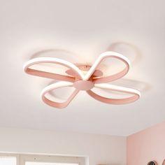 Fan Shape LED Flush Mount Light Nordic Stylish Metal Ceiling Lamp in Pink for Kid Bedroom, White Light Pink Ceiling Fan, Led Ceiling Lamp, Metal Ceiling, Flush Ceiling Lights, Nursery Chandelier, Nursery Lighting, Bedroom Fan, Kids Bedroom, White Lights Bedroom