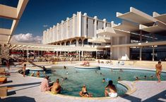 Luxury hotel complex Haludovo Palace on island Krk, north of Malinska Revealed in 1972 after plans of architect Boris Magaš Croatian Islands, Palace Hotel, Design Museum, Brutalist, Faded Glory, Modern Architecture, Seaside, Exterior, History