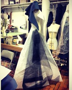 #process of a #gown in the #zacposen #studio