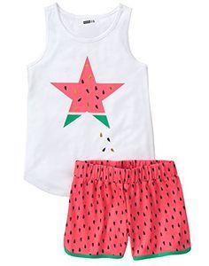 2pc Set SHINE Stars Toddler Girl Short Sleeve Shirt Black//White Shorts Size 2T