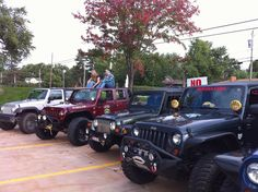 Jeeps!- We have had many!  6 total.... But none now.