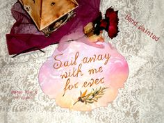 Rustic Wood Wedding Sign-Hand painted - Sail Away with Me for Ever -with veiling hang Wood Wedding Signs, Wedding In The Woods, Rustic Wood, Hand Painted, Invitations, Handmade Gifts, Etsy, Decor, Forest Wedding