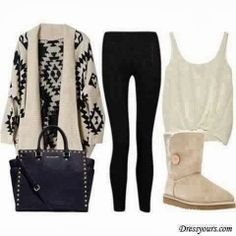Adorable tribal sweater, woolen long shoes and bag inspiration | Fashion World