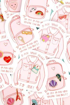Pin It! Enamel Pin Valentine's Day Printables!DIY Conversation Heart Pillows On Brit   CoMwah! DIY Lip Patterned Manicure