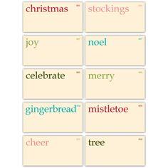 Vintage Christmas Flashcards - set of 10 :: Retiring Tags :: Elle's Studio Tags :: Elle's Studio