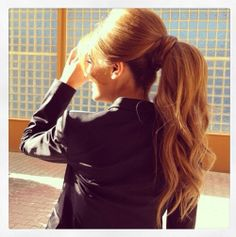 Love the volume in this ponytail. Reminds of Bridget Bardot for some reason