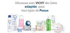 Une large gamme de produits VICHY adaptés tous types de peaux