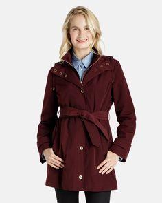 Wendy Single Breasted Belted Trench Coat with Zip Up Inner Bib - Women's Raincoats - Coats for Women - Women #RaincoatsForWomenWeather