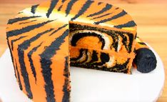 Step by step instructions to Make a Tiger Cake, zebra cake, and Leopard cake.
