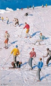 Ski Posters, Vintage Ski, Vintage Pictures, Figure Painting, Skiing, Texture, Abstract, Type 3, Austria