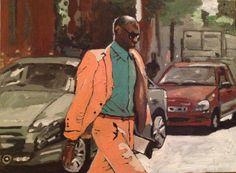 By Georgia Lobo - Street style - 80 X 60 - óleo sobre tela