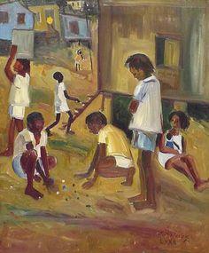 Brincadeira de Crianças, 1972 Edésio Esteves (Brasil, 1916) óleo sobre tela, 65 x 54 cm