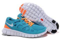 Nike Free Run 2 Zapatillas para Hombre Neptunos Azules/Blancas-Brillantes Mangas http://www.esnikerun.com/