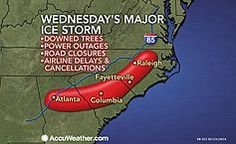 Historic Ice Storm Immobilizes Ground, Air Travel in the South