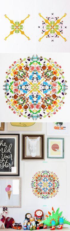 DIY sticker mandala