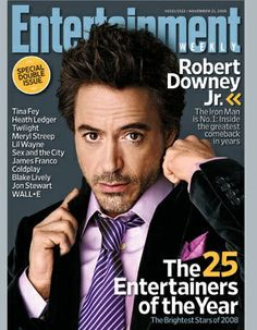 Robert Downey 2008 Entertainment Weekly cover