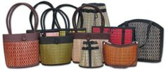 @Maria Luisa fun bags all made from recycled materials