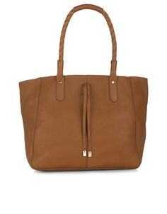 Tilbury Unlined Leather Shopper | Brown | Monsoon