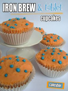 Iron Brew & Tablet Cupcakes
