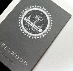 Unique Beautiful Letterpress Business Card - Spellwood