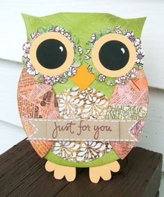 owl card - Scrapbook.com by ~{Puppet}~