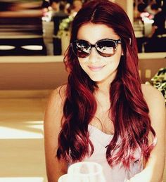 Ariana with her red hair :)