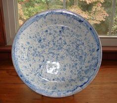 Vintage North Carolina Signed Large Pottery Bowl. $45.00, via Etsy.