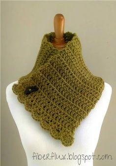 Lemon Balm Button Cowl (Free Crochet Pattern)