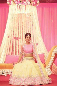 @geeta_basra @harbhajan_singh's Mehndi n Sangeet Pics, end Oct, 2015, Jalandhar, Lehenga by @archana_kochhar Indian Wedding via @sunjayjk