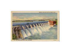 Hot Springs Ark postcard  Remmel Dam and by DustyDiggerLise