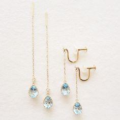 K10YG sky blue topaz earrings #tocca #japan