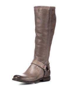 Frye Women's Phillip Harness Tall Boot - Grey