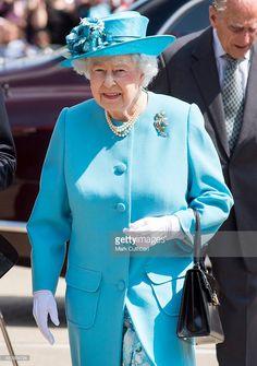 Queen Elizabeth II visits the Sydney Russell School on July 16, 2015 in Barking, United Kingdom.