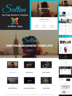 Previous Next View on Template Monster Business Website Templates, Video Background, Page Template, First Page, Layouts, Web Design, Youtube, Design Web, Youtubers
