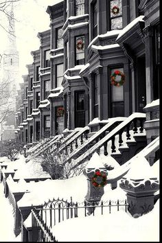 White Christmas in Brooklyn, New York