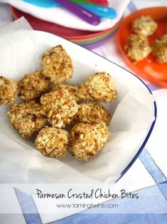 Parmesan Crusted Chicken Bites with Tefal ActiFry via @tamingtwins