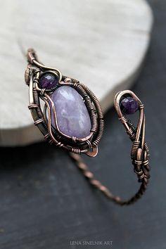 Amethyst bracelet Copper Bracelet natural stones bracelet