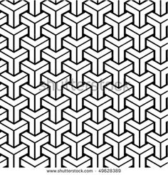 Seamless geometric black and white pattern. To see similar patterns, please visit my gallery :) - stock vector