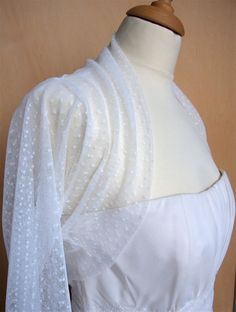 bridal bolero tulle with dots by Violabridal on Etsy