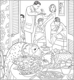 Creative Haven The Saturday Evening Post Americana Coloring Book | Dover Publications
