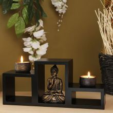 You can't close your eyes to make it go away but you can find peace so you can deal with it. One technique that can offer this is called Zen meditation. Zen meditation is Meditation Corner, Meditation Altar, Meditation Rooms, Relaxation Room, Feng Shui, Deco Zen, Buddha Decor, Zen Space, Buy Candles